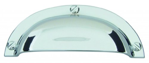- Atlas Homewares A818-CH 3-3/4-Inch Euro-Tech Collection Bin Cup Pull, Polished Chrome