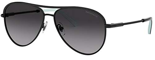 b934aa46484 Tiffany   Co. TF 3062 Gradient Aviator Sunglasses for Women Black 60073C