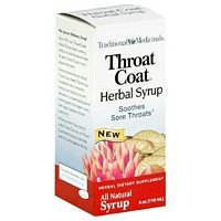 Traditional Medicinals Teas Herbal Syrup Throat Coat - 4 Oz, 4 pack