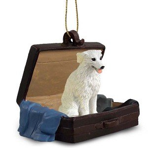 Kuvasz Traveling Companion Dog Ornament