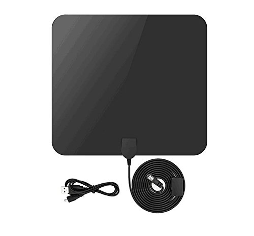 HDTV Indoor Antenna, FANNEGO Amplified Portable Digital TV Antenna 50 Miles Range 360 Degree Reception