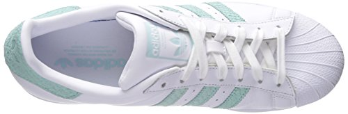adidas Womens Superstar Leather Trainers Ftwr White, Supplier Colour, Off White
