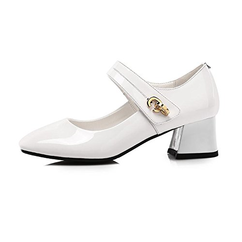 Shoes Eleganti signore Bianco da Mouth Nero Cjc Eu35 Shallow Taglia ufficio Tacchetti da Women lavoro uk3 Colore BzvSw
