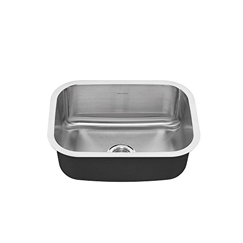 American Standard 18SB.9231800S.075 Portsmouth Undermount 23x18 Single Bowl Kitchen Sink, Stainless Steel