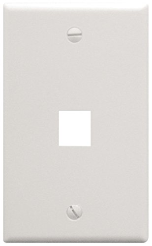 (yan_ICC 1-Port Faceplate/Wall Plate, White (IC107F01WH))