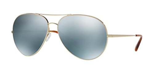 OLIVER PEOPLES SAYER 1201S - 50351U SUNGLASSES GOLD / ARTIC BLUE MIRROR 63MM
