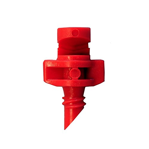 60 Pack RED xGarden 180 Degree Micro Sprayer Fan Jet - For Hydroponic and Aeroponic Misters and Cloners -