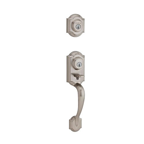 Kwikset 554MNH LIP 15 SMT 6AL RCS Two-Point Locking Double Cylinder Handleset with Exterior Hardware, Satin Nickel by Kwikset