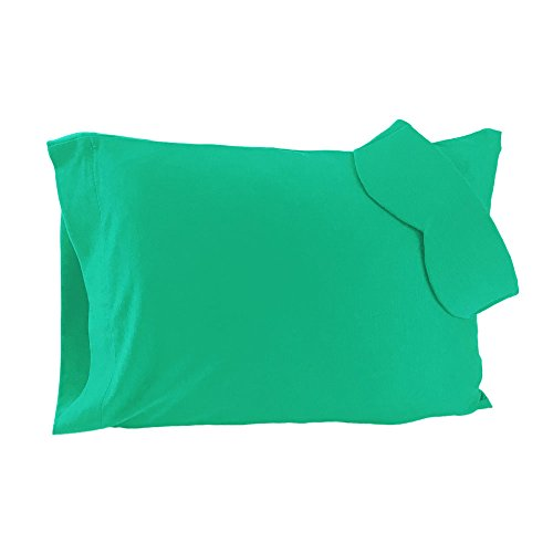 Happyluxe Sydney Luxury Travel Set, Aquamarine, Travel Pillow and Sleep Mask. Great for Airplane, Train, Ship, Bus, or any other Journey. Super Soft, Luxurious, and Machine Washable. Made in the (Green Morph Mask)
