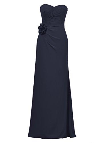 Party Alicepub Dark Gown Bridal Evening Dress Dresses Prom Bridesmaid Long Navy Maxi Chiffon xaqrSPgwXa