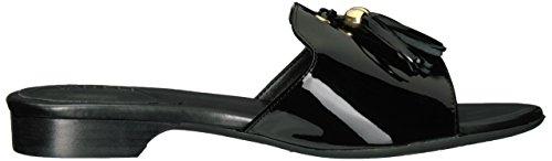 Women VANELi Trim Patent Sandal Flat Blizzi Gold Black dvnHqvpcr