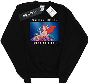 Disney Princess Herren Ariel Waiting for The Weekend Sweatshirt Schwarz Medium
