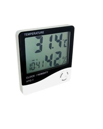 Term/ómetro Digital con Pantalla LCD para Temperatura y Humedad higr/ómetro Uteruik 1 Unidad