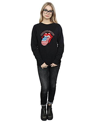 De Negro American Stones Rolling Camisa Mujer Entrenamiento Flag CEOX4q0xw