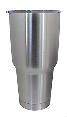 The Boss Vacuum Insulated Stainless Steel Travel Tumbler, 30 oz - Silver Travel Tumbler