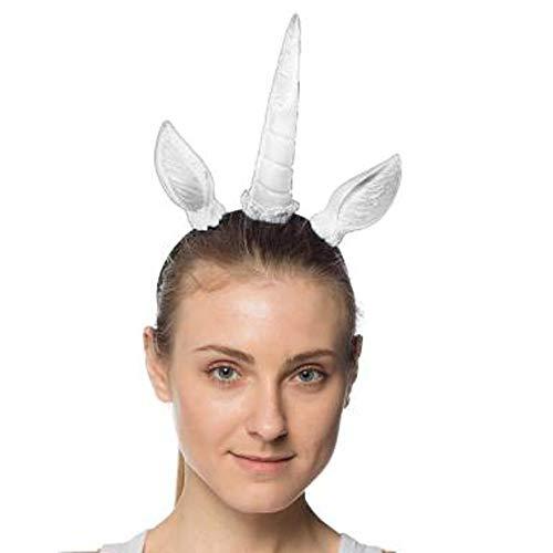 Unicorn Horn & Ears Headband Adult Costume Headpiece
