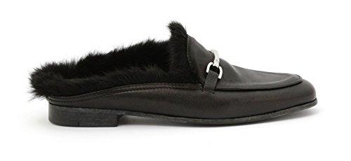 Lemarè Women's 1244 Nero Pel.Dixan Nero Lapin Nero Loafer Flats Black Black XWtTeKn7