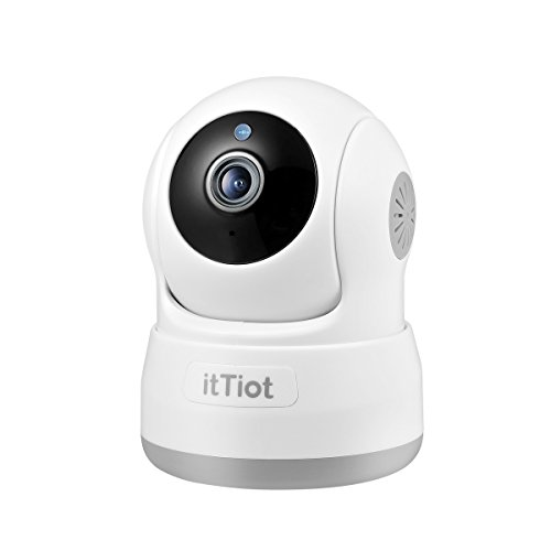 Wireless Security Camera, itTiot 720P HD Indoor WiFi Home Surveillance IP Camera for Baby Pet Nanny Monitor with Pan/Tilt, Two Way Audio, Night Vision - Cat Security Eye