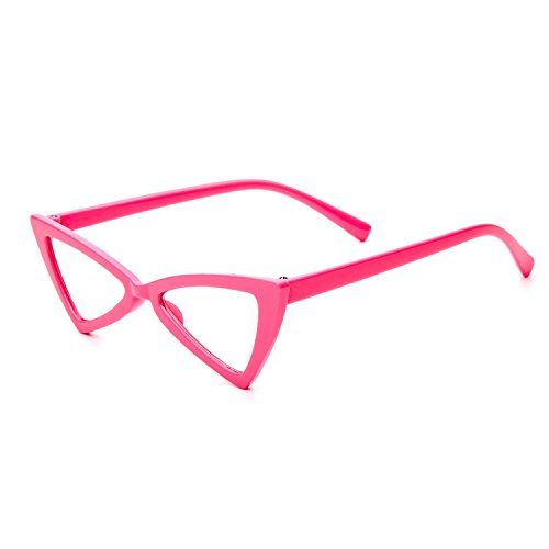 Fashion Glasses Sexy Triangle Cat's Eyes Lady Sunglasses Plastic Frame Lens Trends 2018 ()