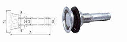 - Marine Grade Stainless Steel Boat Flush Mount Fuel Gas Tank Vent Straight