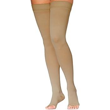 d13ee63a2d 970 Access Series 20-30 mmHg Unisex Open Toe Thigh High Sock Size: Medium