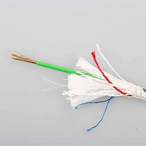 クライミングロープ、8mm 屋外クライミングアクセサリーコードロープ、ホームファイアエスケープレスキューロープ安全ロープ安全懸垂下降ロープ補助,White,20m