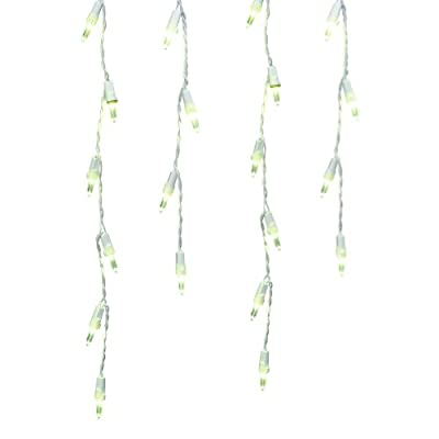 GE 200-Count LED Mini Clear 391387 Low Voltage Icicle White-Corded Christmas String Lights ENERGY STAR
