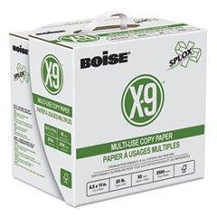 Boise X-9 SPLOX Multi-Use Copy Paper, 92 Bright, 20lb, 8-1/2x11, White, 2500/Ctn