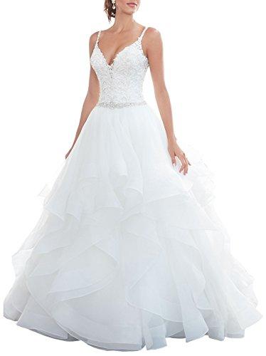Organza Bridal Wedding Gown - 4