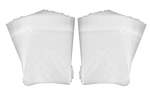 Golden State Art, Pack of 100 5 1/4 X 7 1/8 Clear Bags for 5x7 Photo Mats from Golden State Art