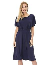 Bearsland Women's Floral Cloak Maternity Breastfeeding Nursing Dress