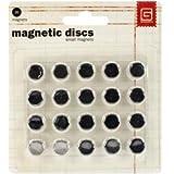 Bulk Buy: Basic Grey Magnetic Snaps 20/Pkg Small (2-Pack)