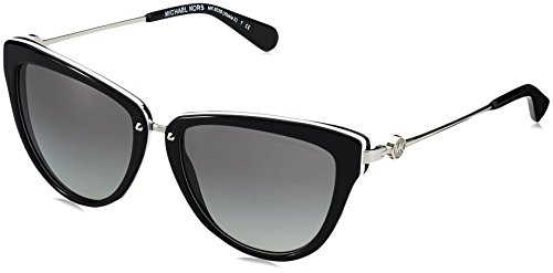 Michael Kors Women's Abela II Black/White - Michael Black Sunglasses Kors