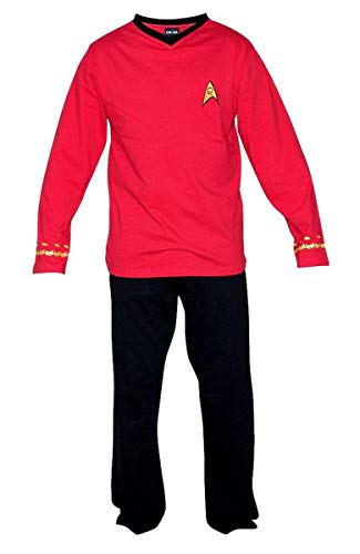 Star Trek Adult Scotty Officer Uniform Red Pajama Set Small -