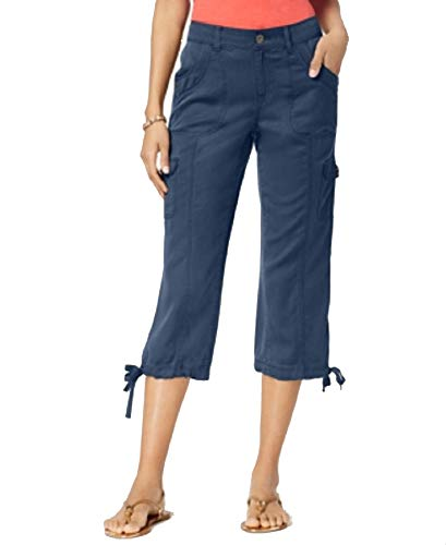 Style & Co Cropped Cargo Pants (New Uniform Blue, 14)