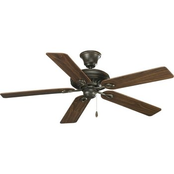 (Progress Lighting P2521-77 52-Inch Signature 5-Blade Fan with 153 X 18 Reversible Motor, Forged)