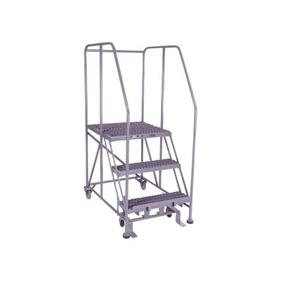 Cotterman Rolling Work Platform - 800-Lb. Capacity, 24in. x 24in. Work Platform, 3 Step, Model# 3WP2424RA3B4B8AC1P6