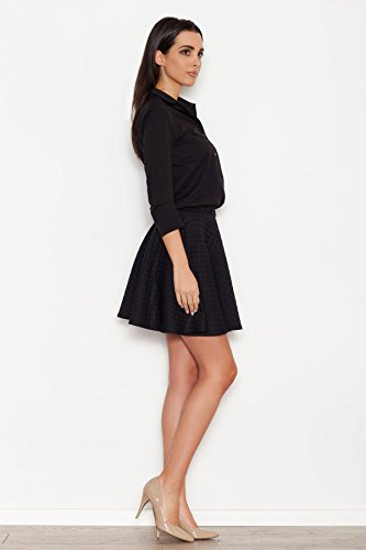 Unterteil Damenkleid Schwarz Weibliches Oberteil Größe 42 Katrus mit Steppmuster mit IgawqwA6