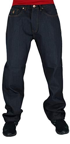 Rocawear Men's Double R Loose Fit Denim Jeans, Raw Japan (36W / 34L) Black ()