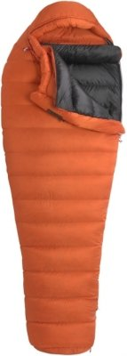 Marmot Lithium MemBrain Down Sleeping Bag, Regular-Left, Orange, Outdoor Stuffs