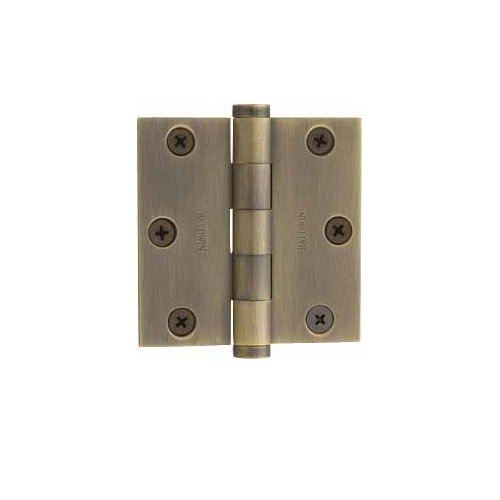 Baldwin 1030.050 Full Mortise 3-Inch x 3-Inch Butt Hinge, Satin Brass and Black