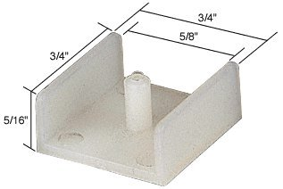 CRL Tub Enclosure Sliding Door Bottom Guide 5/8