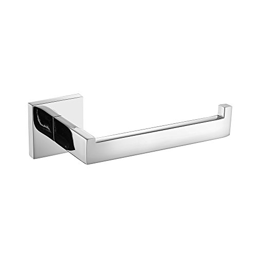 - Leyden 1 Piece Wall Mount Chrome Finish Stainless Steel Toilet Roll Paper Holder Bathroom Accessory