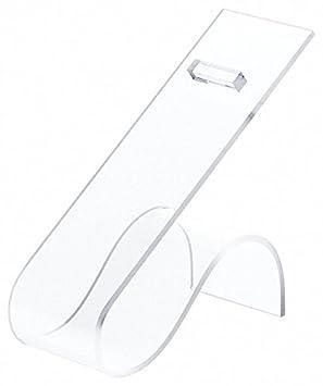 2 W x 4.5 D x 4.75 H 2 W x 4.5 D x 4.75 H Plymor Brand Clear Acrylic Shoe Display Rest