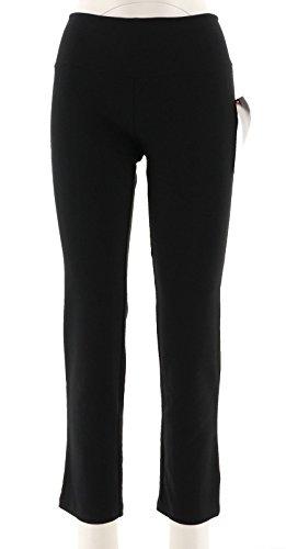 Women with Control Tummy Cntrl Elastic Waist Slim Leg Pant Black PXL New ()