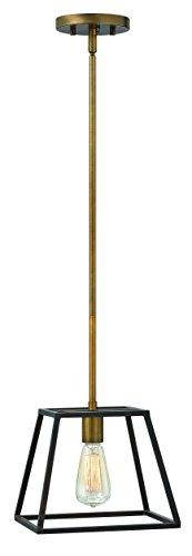 Hinkley 3337BZ Restoration One Light Stem Hung Pendant from Fulton collection in Bronze/Darkfinish,