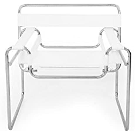 Kardiel Wassily Chair White Saddle Leather
