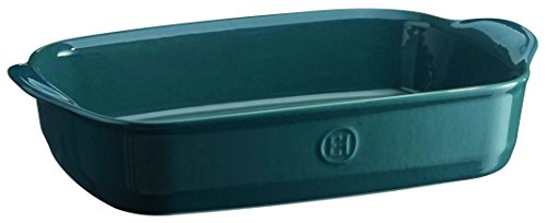 Emile Henry 979652 France Ovenware Ultime Rectangular Baking Dish, 14.2 x 9.1, Blue