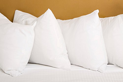 set of two 100 cotton hotel down alternative made in usa pillows three 695638444144 ebay. Black Bedroom Furniture Sets. Home Design Ideas