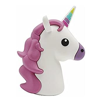 New 2600mah Unicorn Shaped Emoji Cute Funny Cartoon Gift Power Bank External Battery Portable Mobile Phone Charger For Iphone Ipad Samsung Galaxy Note All Tabletes